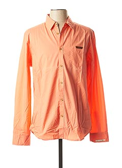 Chemise manches longues orange BEING HUMAN pour homme
