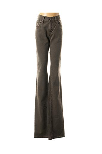 Jeans coupe droite gris DIESEL pour femme