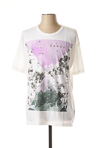 T-shirt manches courtes blanc DIESEL pour homme