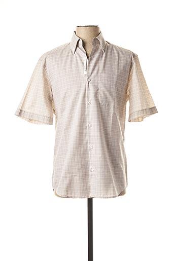 Chemise manches courtes beige ARROW pour homme