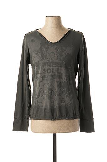 T-shirt manches longues gris FREESOUL pour homme
