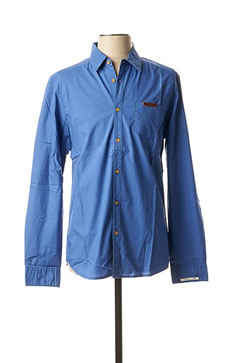 Chemise manches longues bleu BEING HUMAN pour homme