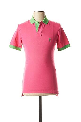 Polo manches courtes rose VICOMTE ARTHUR pour homme