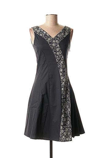 Robe mi-longue noir SKUNKFUNK pour femme