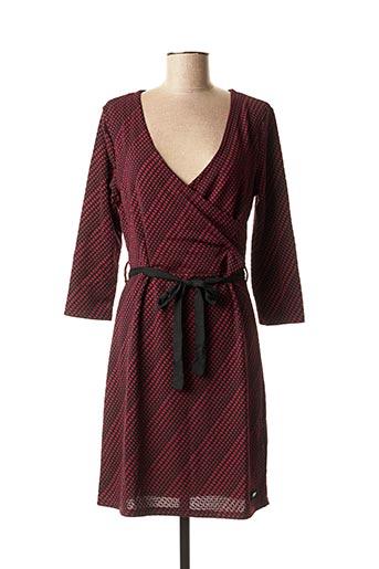 Robe mi-longue rouge SMASH WEAR pour femme