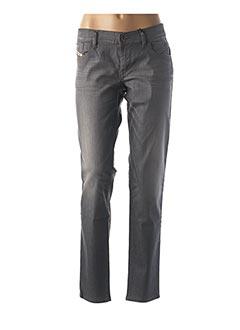 Jeans coupe slim gris DIESEL pour femme