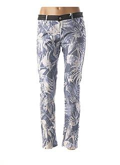 Pantalon casual bleu MILA BRANT pour femme