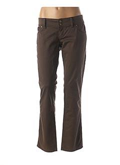 Pantalon casual marron FREESOUL pour femme