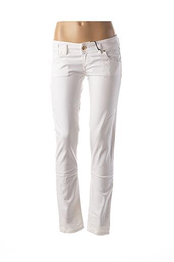 Jeans coupe slim blanc FREESOUL pour femme
