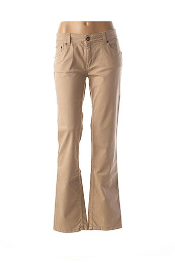 Pantalon casual beige LOIS pour femme