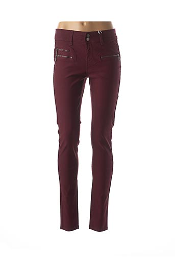 Pantalon casual rouge FRANSA pour femme