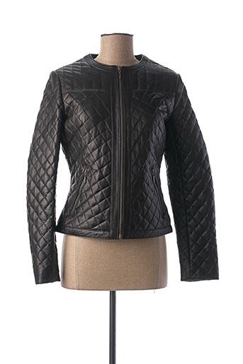 Veste en cuir noir KAPORAL pour femme