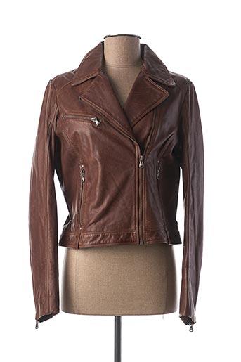 Veste en cuir marron KAPORAL pour femme