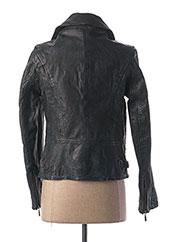 Veste en cuir noir DAYTONA pour femme seconde vue