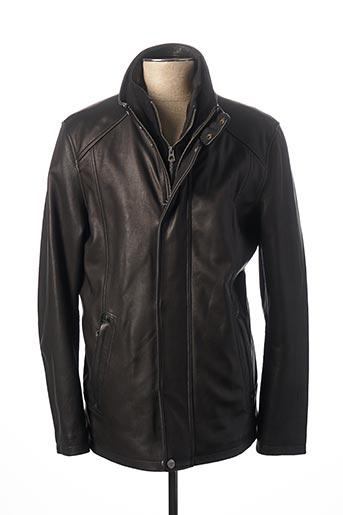 Veste en cuir noir DAYTONA pour homme
