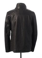 Veste en cuir noir DAYTONA pour homme seconde vue
