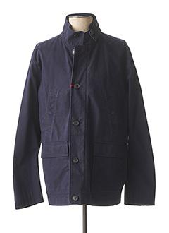 Manteau long bleu CH. K. WILLIAMS pour homme