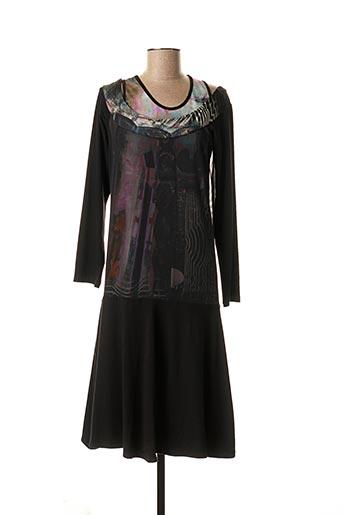 Robe mi-longue noir SAVE THE QUEEN pour femme