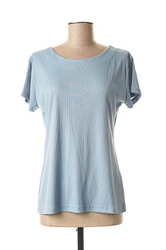 T-shirt manches courtes bleu LAUREN VIDAL pour femme
