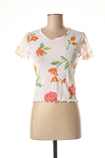 T-shirt manches courtes orange LA FEE MARABOUTEE pour femme