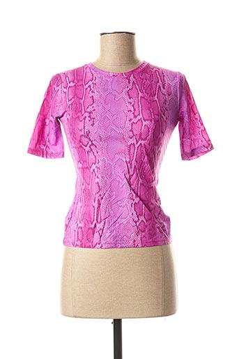 T-shirt manches courtes rose VERTIGO PARIS pour femme