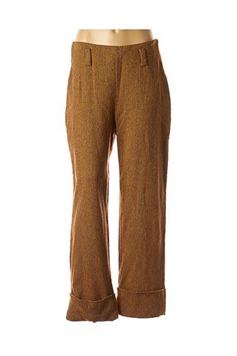 Pantalon casual jaune COCO MENTHE pour femme