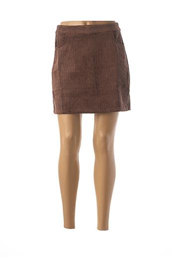 Jupe courte marron MOLLY BRACKEN pour femme