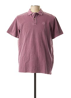 Polo manches courtes violet SERGE BLANCO pour homme