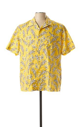 Chemise manches courtes jaune SERGE BLANCO pour homme