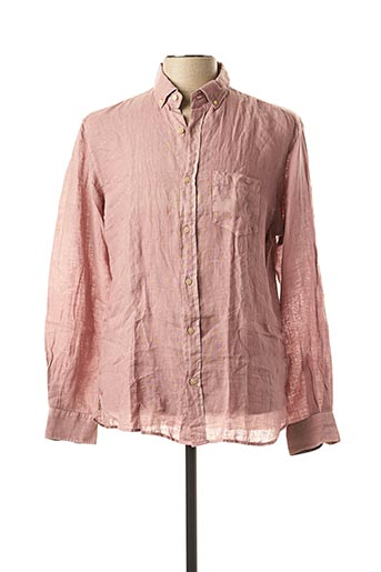 Chemise manches longues rose SERGE BLANCO pour homme