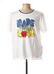T-shirt manches courtes blanc SERGE BLANCO pour homme seconde vue