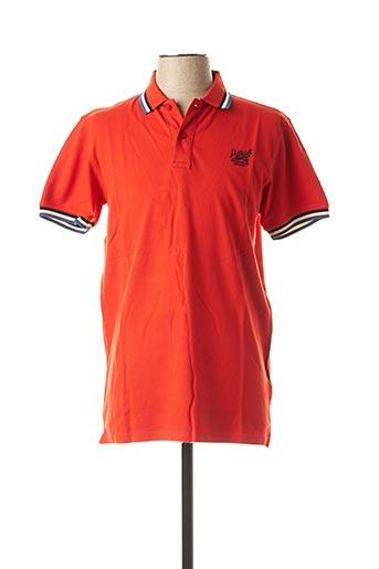 Polo manches courtes rouge PETROL INDUSTRIES pour homme