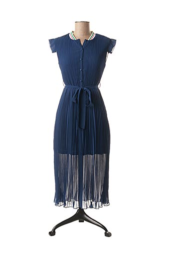 Robe mi-longue bleu LILI SIDONIO pour femme