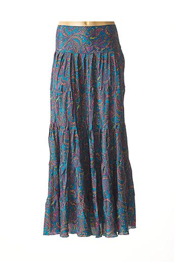 Jupe longue bleu COLINE pour femme