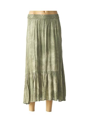 Jupe mi-longue vert B.YOUNG pour femme