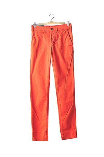 Pantalon casual orange CAMBRIDGE pour homme