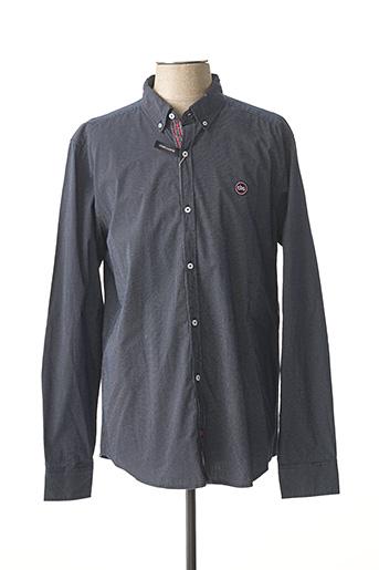 Chemise manches longues bleu TBS pour homme