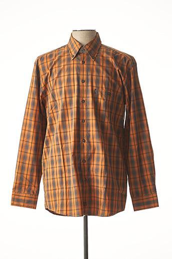 Chemise manches longues marron DORNBUSCH pour homme