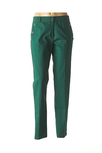 Pantalon casual vert COM ELLE pour femme