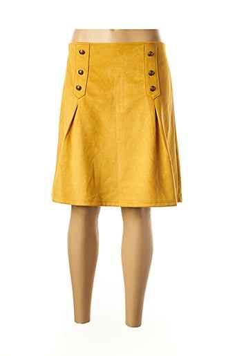 Jupe mi-longue jaune AURA BY FIGURE LIBRE pour femme