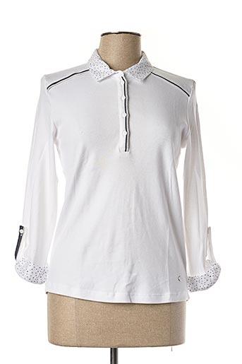 T-shirt manches longues blanc THALASSA pour femme