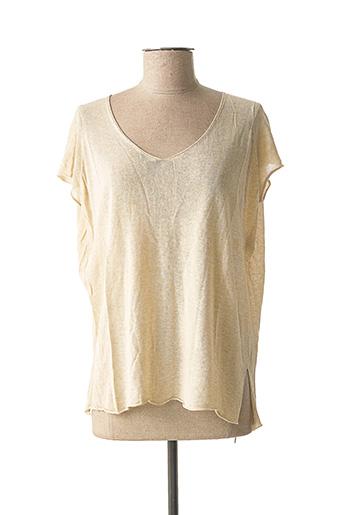 T-shirt manches courtes beige ESE O ESE pour femme