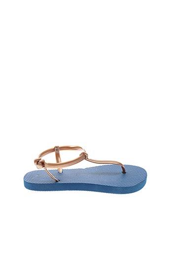 Tongs bleu SURFBISCUS pour femme