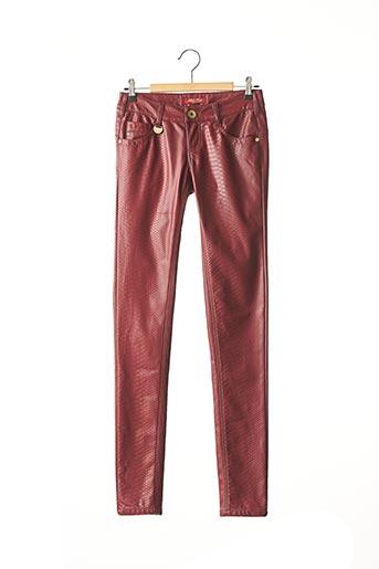 Pantalon casual rouge BLUE RAGS pour femme