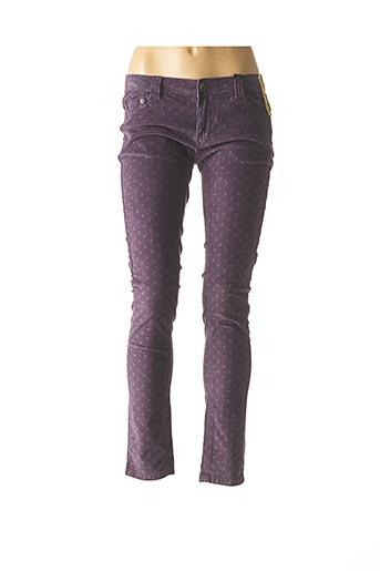Pantalon casual violet BLUE RAGS pour femme