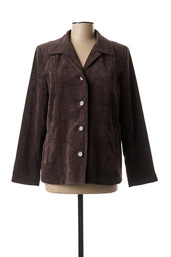 Veste casual marron FINNKARELIA pour femme