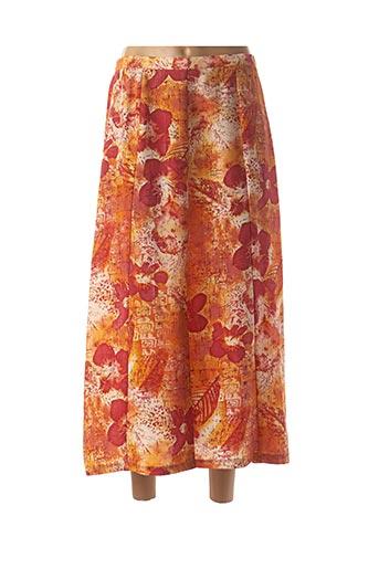 Jupe longue orange GRIFFON pour femme