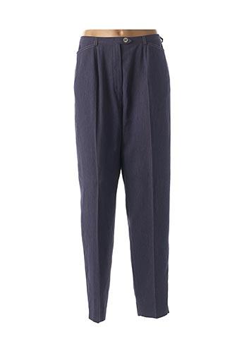 Pantalon casual bleu CLAUDE BAUER pour femme