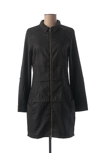 Manteau long noir GEISHA pour femme