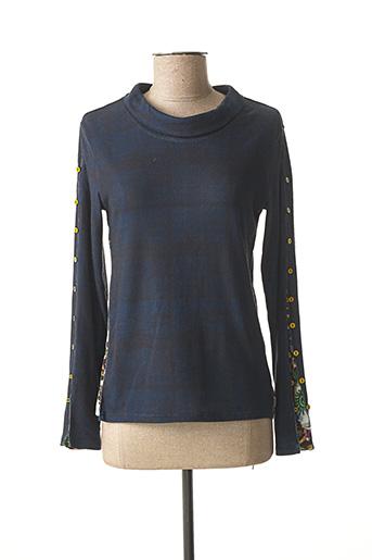 T-shirt manches longues bleu AVENTURES DES TOILES pour femme